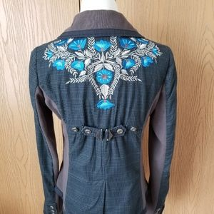 Free People Embroidered Jacket
